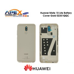 Huawei Mate 10 Lite (RNE-L01, RNE-L21) Battery Cover Incl. Fingerprint Sensor Gold 02351QQC