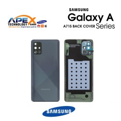 Samsung Galaxy A71 (SM-A715F) Battery Cover Prism Crush Black GH82-22112A