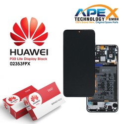 Huawei P30 Lite New Edition (MAR-L21BX) Display module front cover + LCD + digitizer + battery black 02353FPX