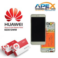Huawei Honor 8 Lite Display module LCD / Screen + Touch + Battery Gold 02351DWM