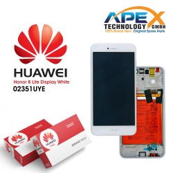 Huawei Honor 8 Lite Display module LCD / Screen + Touch + Battery White 02351UYE