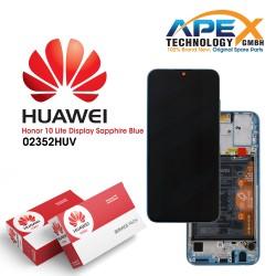 Huawei Honor 10 Lite Display module LCD / Screen + Touch + Battery - Sapphire Blue - 02352HUV