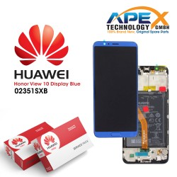 Huawei Honor View 10 (BKL-L09) Display module front cover + LCD + digitizer + battery navy blue 02351SXB