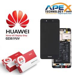 Huawei Honor 6C Display module LCD / Screen + Touch - Battery - Grey - 02351FUV