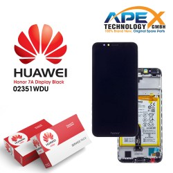 Huawei Honor 7A (AUM-TL20) Display module front cover + LCD + digitizer + battery black 02351WDU