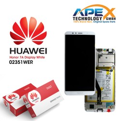 Huawei Honor 7A (AUM-TL20) Display module front cover + LCD + digitizer + battery white 02351WER