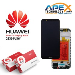 Huawei Honor 7C Display module LCD / Screen + Touch + Battery - Black - 02351USW