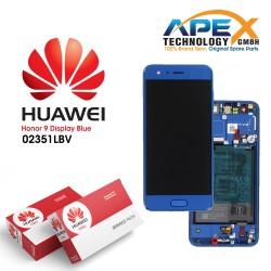 Huawei Honor 9 (STF-L09) Display module LCD / Screen + Touch + Battery Blue 02351LBV