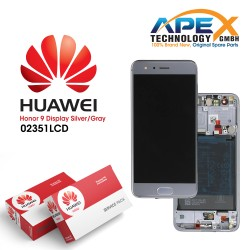 Huawei Honor 9 (STF-L09) Display module front cover + LCD + digitizer + battery grey 02351LCD