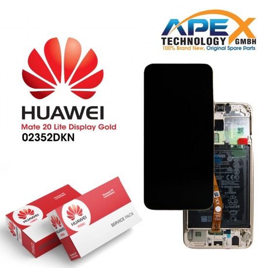 Huawei Mate 20 Lite (SNE-LX1 SNE-L21) Display module LCD / Screen + Touch + Battery Platinum Gold 02352DKN