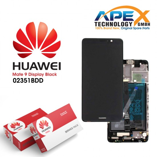 Huawei Mate 9 Display module LCD / Screen + Touch + Battery Black 02351BDD