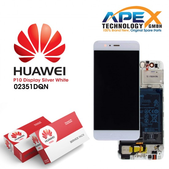 Huawei P10 LCD Display / Screen + Touch + Battery Assembly - White