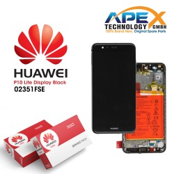 Huawei P10 Lite LCD Display / Screen + Touch + Battery Assembly - Black