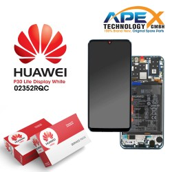 Huawei P30 Lite LCD Display / Screen + Touch + Battery Assembly - White