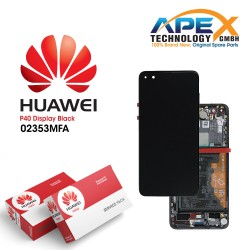Huawei P40 (ANA-NX9 ANA-LX4) Display module LCD / Screen + Touch + Battery Black 02353MFA