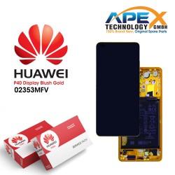 Huawei P40 (ANA-NX9 ANA-LX4) Display module LCD / Screen + Touch + Battery Blush Gold 02353MFV