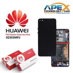 Huawei P40 (ANA-NX9 ANA-LX4) Display module LCD / Screen + Touch + Battery Deep Sea Blue 02353MFU