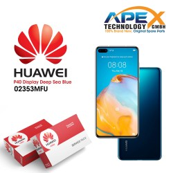 Huawei P40 LCD Display / Screen + Touch + Battery Assembly - Deep Sea Blue