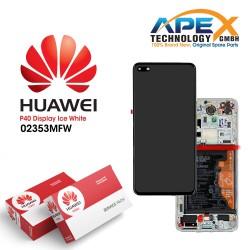 Huawei P40 (ANA-NX9 ANA-LX4) Display module LCD / Screen + Touch + Battery ice White 02353MFW