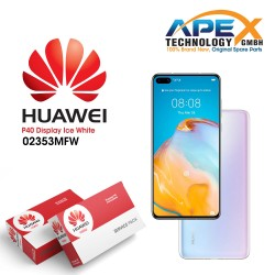Huawei P40 (ANA-NX9 ANA-LX4) Display module front cover + LCD + digitizer + battery ice white 02353MFW