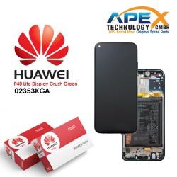 Huawei P40 Lite (JNY-L21A JNY-LX1) Display module front cover + LCD + digitizer + battery crush green 02353KGA
