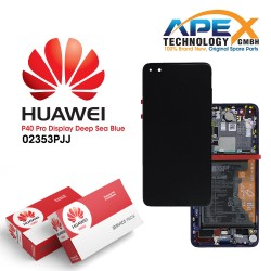 Huawei P40 Pro (ELS-NX9 ELS-N09) Display module LCD / Screen + Touch + Battery Deep Sea Blue 02353PJJ