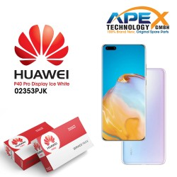 Huawei P40 Pro (ELS-NX9 ELS-N09) Display module front cover + LCD + digitizer + battery ice white 02353PJK