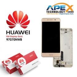 Huawei Y5 II 2016 4G (CUN-L21) Display module LCD / Screen + Touch Gold 97070NWB
