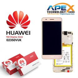 Huawei Y6-II LCD Display / Screen + Touch + Battery Assembly - Gold