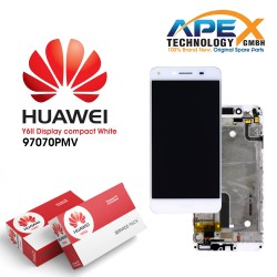 Huawei Y6 ll Compact LCD Display / Screen + Touch + Battery Assembly - White