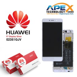 Huawei Y7 (2017) LCD Display / Screen + Touch + Battery Assembly - Silver