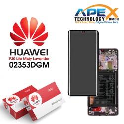 Huawei P30 Pro (VOG-L09 VOG-L29) Display module LCD / Screen + Touch + Battery Mystic lavender 02353DGM
