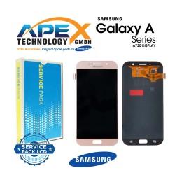 Samsung Galaxy A7 2017 (SM-A720F) Display module LCD / Screen + Touch Gold GH97-19723D