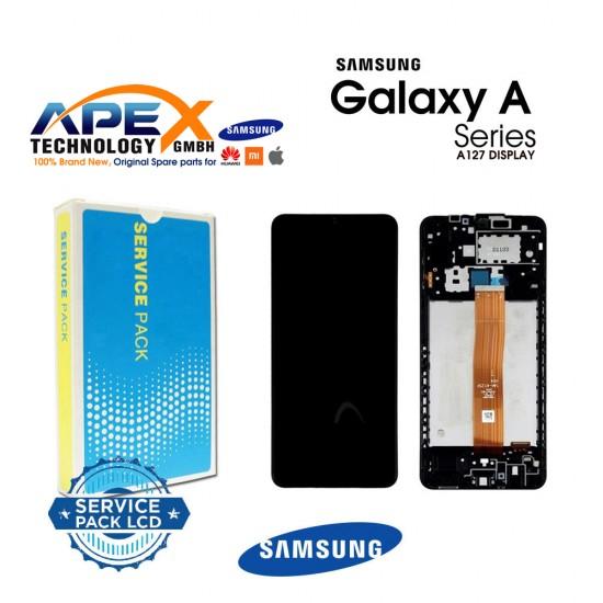 Samsung SM-A127 Galaxy A12 2021 Display module LCD / Screen + Touch Black GH82-26485A OR GH82-26486A