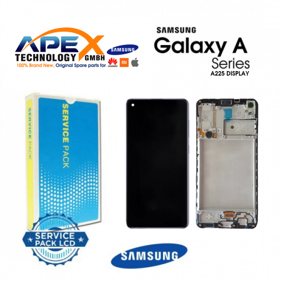 Samsung Galaxy A22 (SM-A225 4G) Display module LCD / Screen + Touch + Frame Black With Battery GH82-26241A