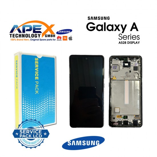 Samsung Galaxy SM-A528 (A52s 5G 21 ) Display module LCD / Screen + Touch Green / Awesome Mint + Btry GH82-26912E