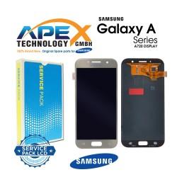 Samsung Galaxy A7 2017 (SM-A720F) Display module LCD / Screen + Touch Gold GH97-19723B