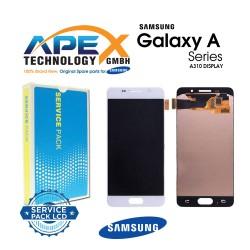 Samsung SM-A310 Galaxy A3 (2016) Display module LCD / Screen + Touch - White - GH97-18249A