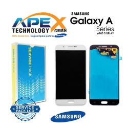 Samsung SM-A800 Galaxy A8  LCD Display / Screen + Touch - White