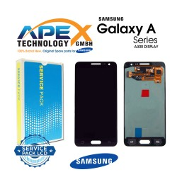 Samsung SM-A300 Galaxy A3 LCD Display / Screen + Touch Black