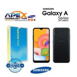 Samsung SM-A017 Galaxy A01s Display module LCD / Screen + Touch Black