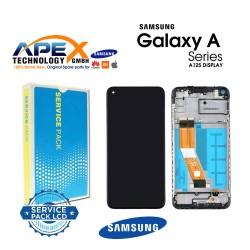 Samsung SM-A125 Galaxy A12 Display module LCD / Screen + Touch Black + Btry - GH82-24708A OR GH82-24709A