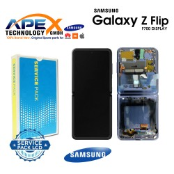 Samsung Galaxy Z Flip (SM-F700F) Display module LCD / Screen + Touch mirror Purple GH82-22215B