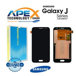 Samsung Galaxy J1 2016 (SM-J120F) Display module LCD + Digitizer black GH97-18224C