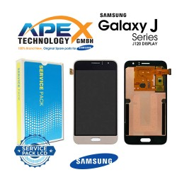 Samsung Galaxy J1 2016 (SM-J120F) Display module LCD + Digitizer gold GH97-18224B