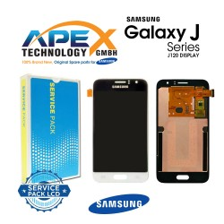 Samsung Galaxy J1 2016 (SM-J120F) Display module LCD + Digitizer white GH97-18224A