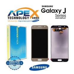 Samsung Galaxy J3 2017 (SM-J330F) Display module LCD + Digitizer gold GH96-10990A