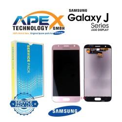 Samsung Galaxy J3 2017 (SM-J330F) Display module LCD + Digitizer pink GH96-10991A