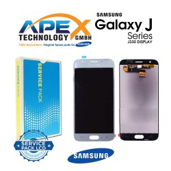 Samsung Galaxy J3 2017 (SM-J330F) Display module LCD + Digitizer silver blue GH96-10992A
