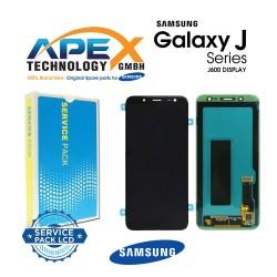 Samsung Galaxy J6 (SM-J600F) Display module LCD / Screen + Touch Black GH97-21931A